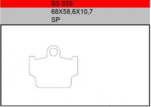 Gesinterde remblokken BS658
