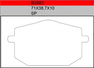 Gesinterde remblokken BS683