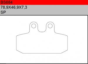 Gesinterde remblokken BS684