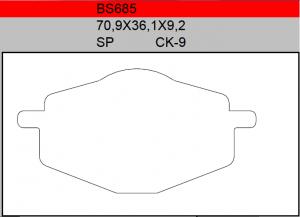 Gesinterde remblokken BS685