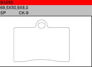 Gesinterde remblokken BS688