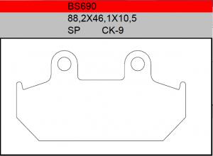 Gesinterde remblokken BS690