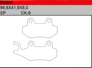 Gesinterde remblokken BS696