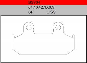 Gesinterde remblokken BS704