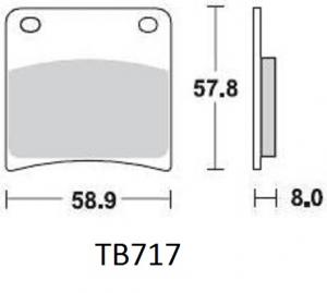 Gesinterde remblokken BS717