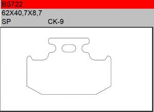 Gesinterde remblokken BS722