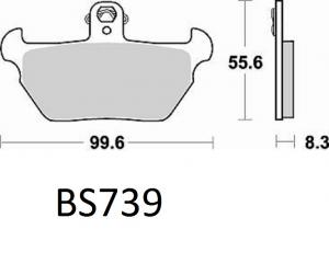 Gesinterde remblokken BS739