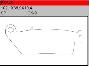 Gesinterde remblokken BS748