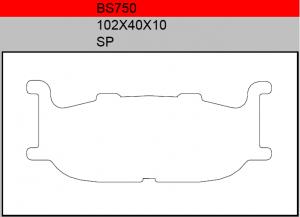 Gesinterde remblokken BS750