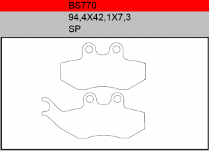 Gesinterde remblokken BS770
