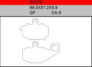 Gesinterde remblokken BS775