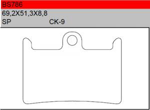 Gesinterde remblokken BS786