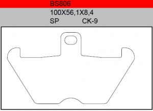 Gesinterde remblokken BS806
