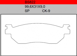 Gesinterde remblokken BS822