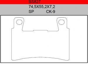 Gesinterde remblokken BS827