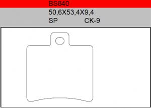 Gesinterde remblokken BS840