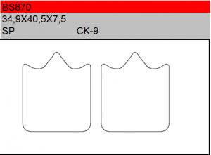 Gesinterde remblokken BS870