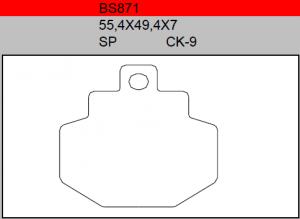 Gesinterde remblokken BS871