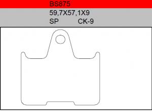 Gesinterde remblokken BS875