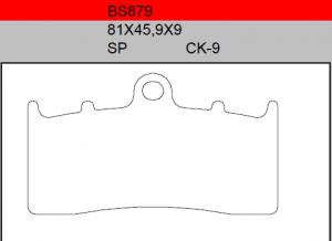 Gesinterde remblokken BS879