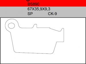 Gesinterde remblokken BS890