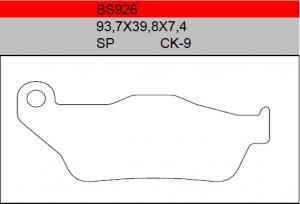 Gesinterde remblokken BS926