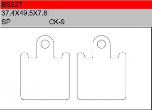 Gesinterde remblokken BS927