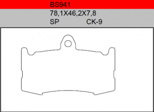 Gesinterde remblokken BS941