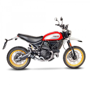 Leovince LV-10 carbon uitlaat voor Ducati Scrambler 803 Desert Sled 2017-2021