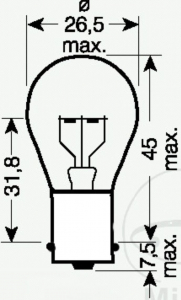 LAMP 6 volt 21 Watt JMP BA15s