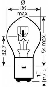 LAMP 12 volt 35/35Watt JMP BA20D