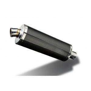 Delkevic Universele uitlaat met verwijderbare db-killer 350mm Ovaal Carbon 51mm