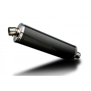 Delkevic Universele uitlaat met verwijderbare db-killer 450mm Ovaal Carbon 51mm