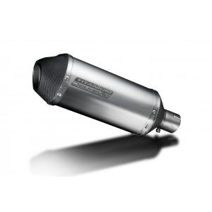 Delkevic Universele uitlaat met verwijderbare db-killer 260mm X-Ovaal Titanium 51mm