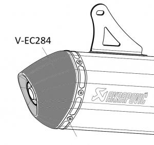 Akrapovic eindkap / end cap V-EC284