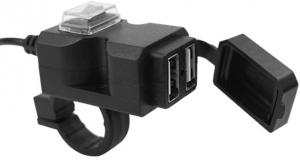 USB poort, dubbel, met schakelaar, stuurmontage & steunmontage