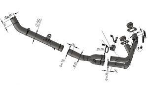 Uitlaatbochtenset katvervanger Leovince voor HONDA CRF 1100 L AFRICA TWIN/ADVENTURE SPORT/DCT vanaf 2020