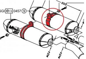Leovince 307785501 carbon beugel FM6