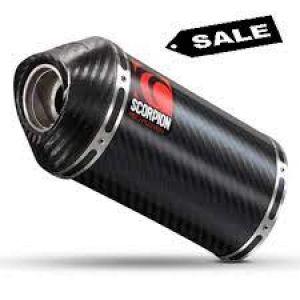 Scorpion uitlaat Carbine Carbon + carbon eindkap voor Suzuki GSF600 Bandit / GSF650 Bandit / GSF1200 Bandit