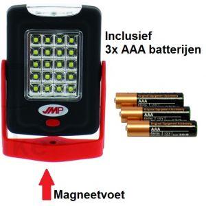 LED handlamp met magneetvoet, werkplaats, pech onderweg, tent