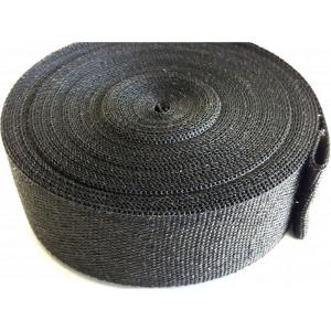 Zwarte uitlaatwrap / tape 5 cm breed, 10 mtr lang