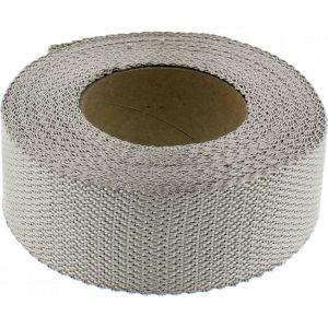 Messingkleurige uitlaatwrap / tape 5 cm breed, 15 mtr lang
