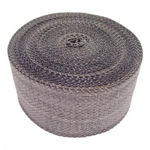 Grijze uitlaatwrap / tape 5 cm breed, 15 mtr lang