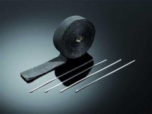 Zwarte uitlaatwrap / tape 5 cm breed, 15 mtr lang
