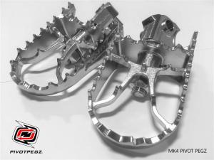 Set draaibare / verstelbare Pivot-Pegz voetsteunen oa voor diverse Yamaha