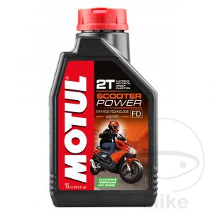 Motorolie 2-takt 1 liter Motul Synthetisch Scooter Power