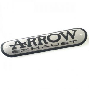Arrow aluminium uitlaatschildje