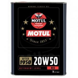 Motorolie 20W50 2 liter Motul Classic