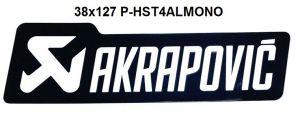Akrapovic P-HST4ALMONO hittebestendige sticker 38x127mm