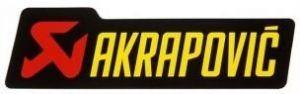 Akrapovic P-HST12AL hittebestendige sticker 30x95mm